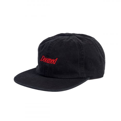Doomed SERIF 6 Panel Cap Black